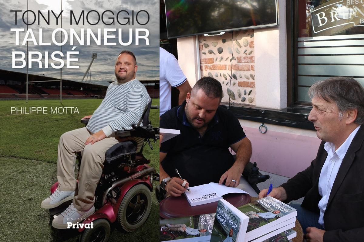 Couverture du Livre de Tony MOGGIO Talonneur Brise au edition PRIVAT en seance de dedicace
