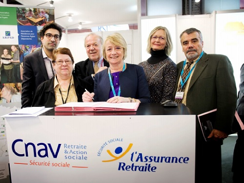 Signature convention Arefo et Cnav en Ile-de-France