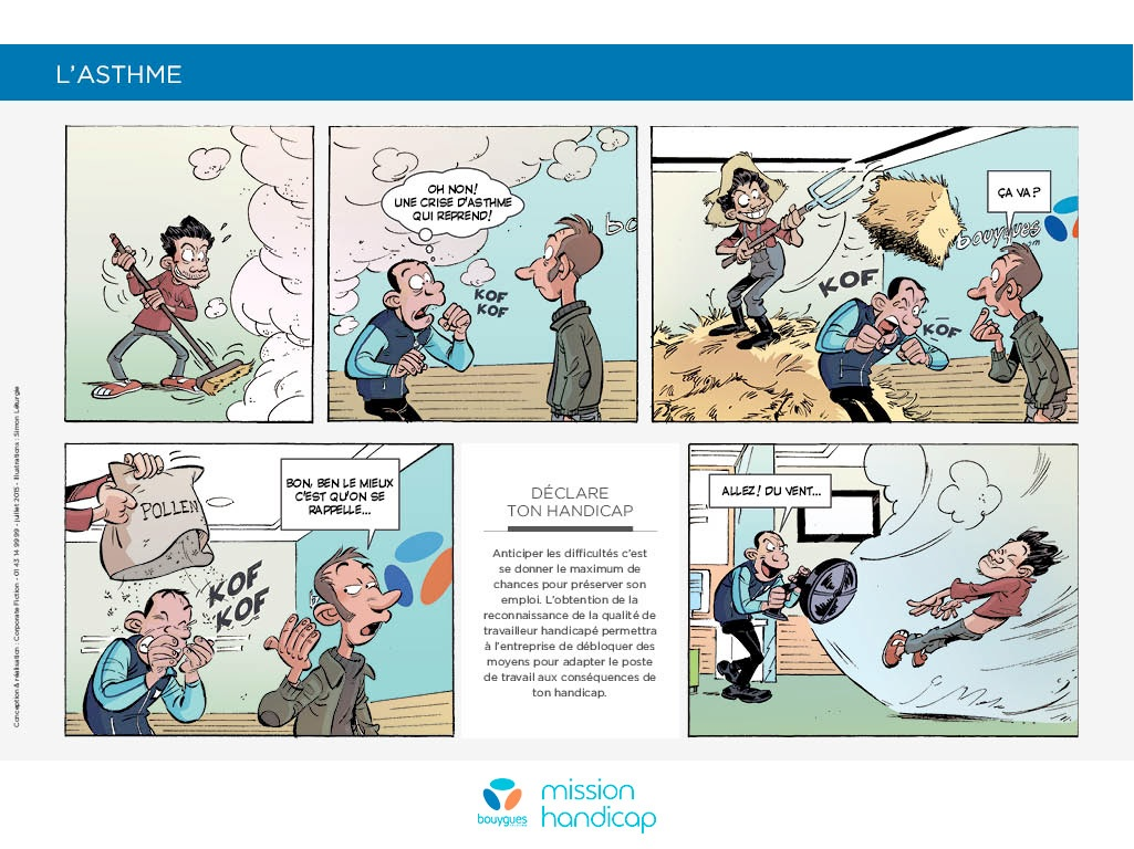 Bande dessine campagne handicap invisible Bouygues Telecom